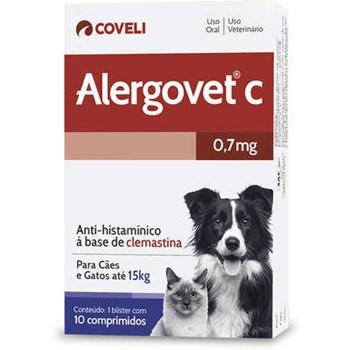 Alergovet Antialérgico com 10 comprimidos
