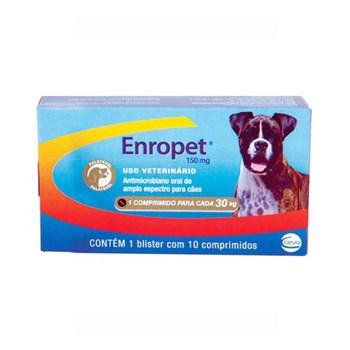 Antibiótico Ceva Enropet com 10 comprimidos