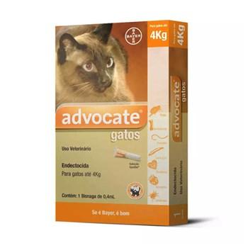 Antipulgas Advocate Bayer para Gatos até 4Kg - 0,4ml