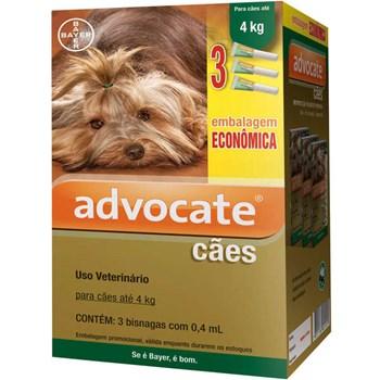 Antipulgas Bayer Advocate para Cães até 4kg - 0,4ml