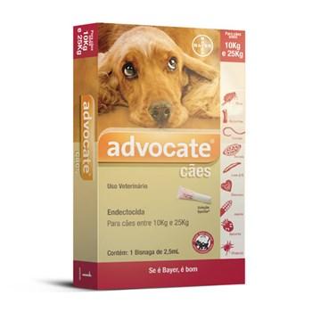 Antipulgas Bayer Advocate para Cães de 10 a 25kg - 2,5ml
