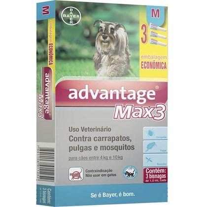 Antipulgas e Carrapatos Bayer Advantage MAX3 - 1 ml para Cães de 4 a 10kg