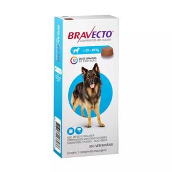 Antipulgas e Carrapatos MSD Bravecto para Cães de 20 a 40 kg - 1.000mg