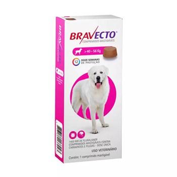 Antipulgas e Carrapatos MSD Bravecto para Cães de 40 a 56kg - 1.400mg