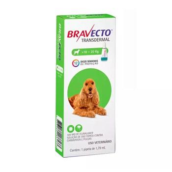 Antipulgas e Carrapatos MSD Bravecto Transdermal para Cães de 10 a 20kg - 500mg