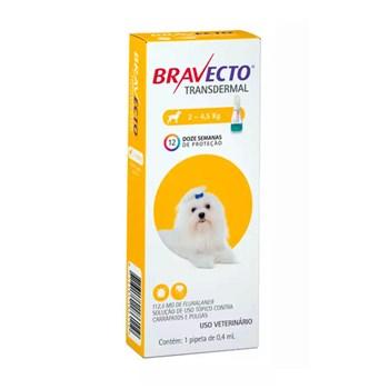 Antipulgas e Carrapatos MSD Bravecto Transdermal para Cães de 2 a 4,5kg - 112,5mg