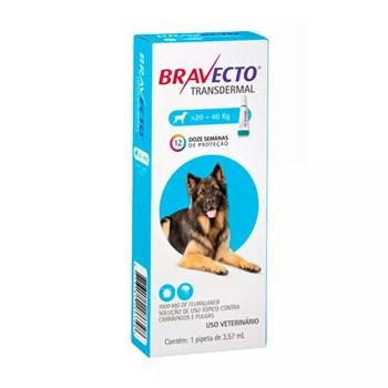Antipulgas e Carrapatos MSD Bravecto Transdermal para Cães de 20 a 40kg - 1.000mg