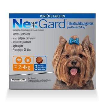 Antipulgas e Carrapatos NexGard 11,3mg para Cães 2 a 4 kg