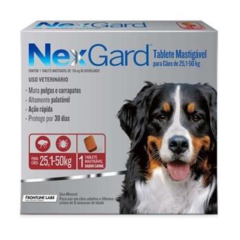 Antipulgas e Carrapatos NexGard 136mg para Cães 25,5 a 50kg