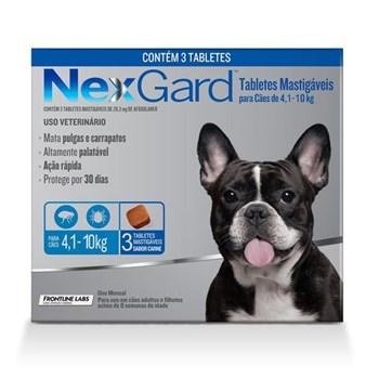 Antipulgas e Carrapatos NexGard 28,3mg para Cães 4,1 a 10 kg