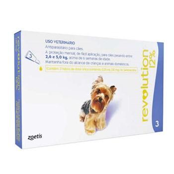 Antipulgas e Carrapatos Zoetis Revolution 12% 30mg para Cães de 2,5 a 5kg