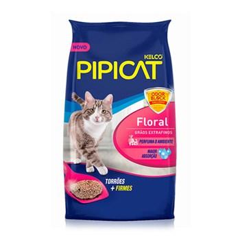 Areia Sanitária Floral Perfumada Pipicat para Gatos