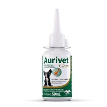 Aurivet Clean Vetnil Solução Limpeza Otológica 50ml