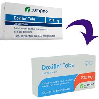 Doxifin Tabs 200mg Antibiótico cartela com 12 comprimidos