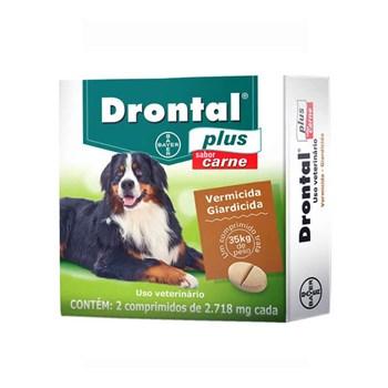 Drontal Plus Vermífugo Cães 35kg sabor Carne