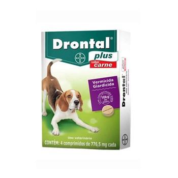 Drontal Plus Vermífugo Cães até 10Kg sabor Carne