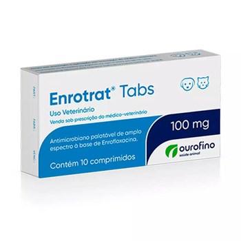 Enrotrat Tabs 100mg Antimicrobiano com 10 comprimidos