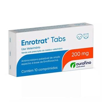 Enrotrat Tabs 200mg Antimicrobiano com 10 comprimidos