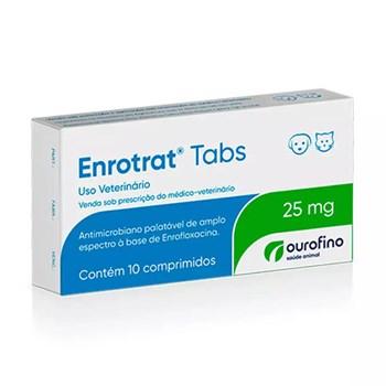 Enrotrat Tabs 25mg Antimicrobiano com 10 comprimidos