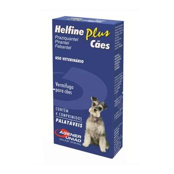 Helfine Plus Cães Vermífugo com 04 comprimidos