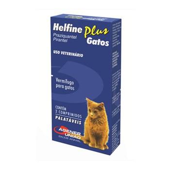 Helfine Plus Gatos Vermífugo com 02 comprimidos