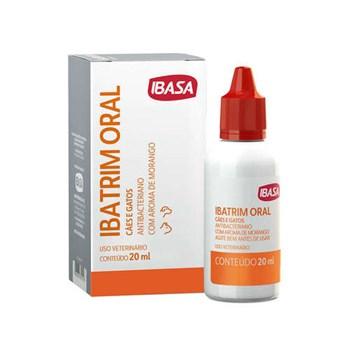 Ibatrim Antimicrobiano Ibasa Oral para Cães e Gatos 20mL