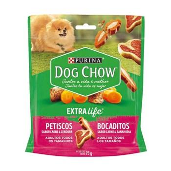 Petisco Purina Dog Chow Extra Life sabor Carne e Cenoura para Cães Adultos 75g