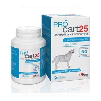 ProCart 25 Suplemento Alimentar com 60 comprimidos palatáveis