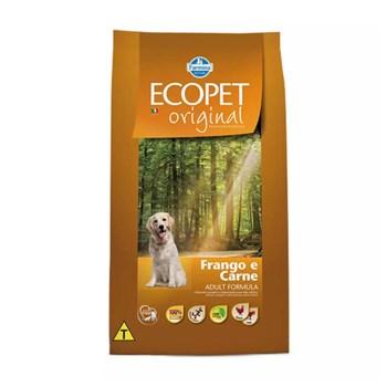Ração Farmina Ecopet Original sabor Carne e Frango para Cães Adultos