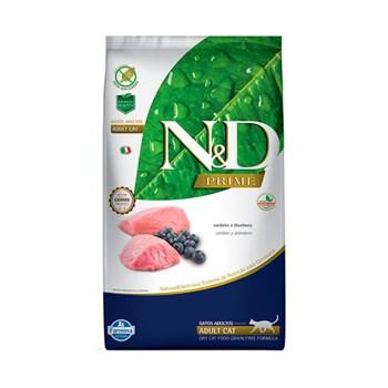 Ração Farmina N&D Prime sabor Cordeiro e Blueberry para Gatos Adultos