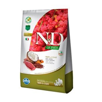 Ração Farmina N&D Quinoa Skin & Coat sabor Pato e Coco para Cães Adultos de Todas as de Raças