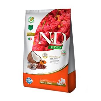 Ração Farmina N&D Quinoa Skin & Coat sabor Peixe e Coco para Cães Adultos de Todas as de Raças