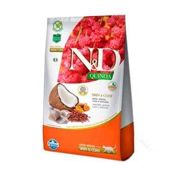 Ração Farmina N&D Quinoa Skin & Coat sabor Peixe e Coco para Gatos Adultos