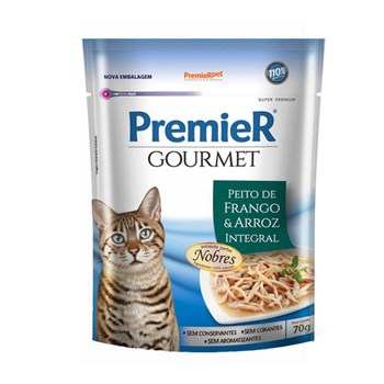 Ração Premier Gourmet Sachê Frango para Gatos Adultos 70g
