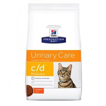 Ração Seca Hill's Prescription Diet C/D Multicare Cuidado Urinário para Gatos Adultos com Doenças Urinárias