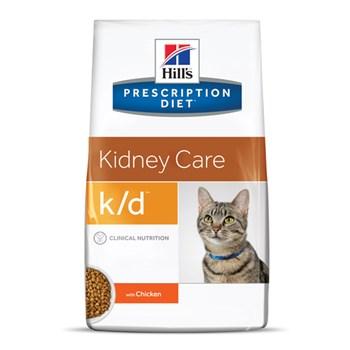Ração Seca Hill's Prescription Diet K/D Cuidado Renal para Gatos Adultos com Doença Renal