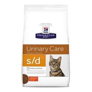 Ração Seca Hill's Prescription Diet S/D Cuidado Urinário para Gatos Adultos com Doenças Urinárias 1,81kg
