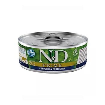 Ração Úmida Farmina N&D Prime sabor Cordeiro e Blueberry para Gatos