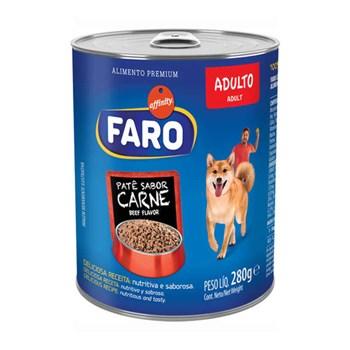 Ração Úmida Faro Lata sabor Carne para Cães Adultos 290g