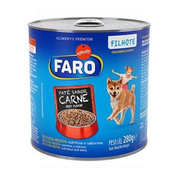 Ração Úmida Faro Lata sabor Carne para Cães Filhotes 290g