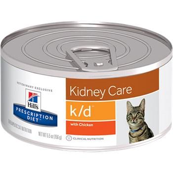 Ração Úmida Hill's Prescription Diet Lata K/D Cuidado Renal para Gatos Adultos com Doença Renal 82g