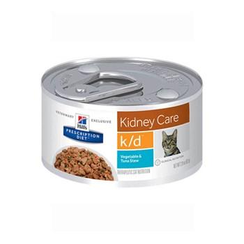 Ração Úmida Hill's Prescription Diet Lata K/D Cuidado Renal Sabor Atum para Gatos Adultos com Doença Renal 82g