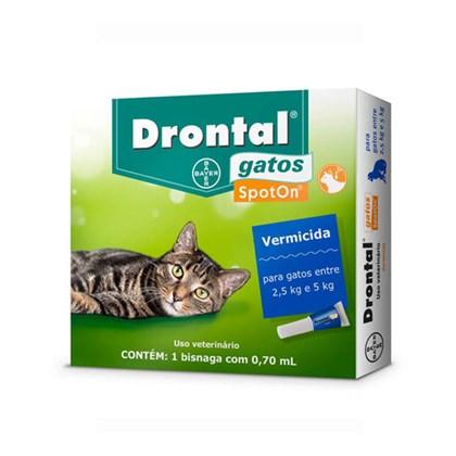 Vermífugo Drontal Spoton para Gatos de 2,5 kg a 5 kg